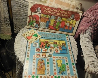 1973 Goldilocks And The Three Bears Board Game First Game with no reading /Not Included in Coupon Sale :)S