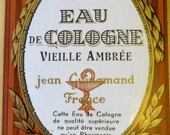 Authentic French vintage perfume label. Paris.
