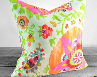 Pillow Cover - P Kaufmann Silsila Lawn (Orange) Fabric - Same Fabric Both Sides - Indoor / Outdoor - Pick Your Size