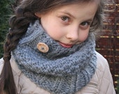Yasmine Cowl - Knitting pattern - Toddler, Child and Adult sizes - pdf format / eBook
