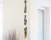 Seize the day, wooden letters, home wall decor