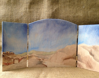 The Flight Into Egypt Tri Fold Backdrop