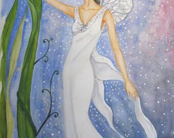 Lotus Fairy - Original Acrylic Painting
