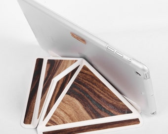 iPad Case iPad Smart Cover iPad Stand Tablet Case with Back Automatic for iPad Mini1 2 3 Leather/Wood Combination Tablet Holder