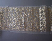 Vintage Gold Lace Net - Tulle Border - 120x8 inch - Crafts Cardmaking Lamp shades