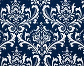 "Blue Pillow Cover- Navy Pillow-Navy Blue Damask  Pillow- Navy Blue and White Pillow -.16"",17"",18"",20"" 24"" 26"", Lumbar Pillow or Euro Sham"