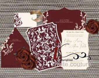 Custom Lasercut Luxury Wedding invitations - Die Cut Wedding Invitations -  Custom Luxury Invitations