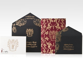 Custom  Luxury Wedding invitations - Die Cut Wedding Invitations -  Custom Luxury Invitations - Lasercut Invitations