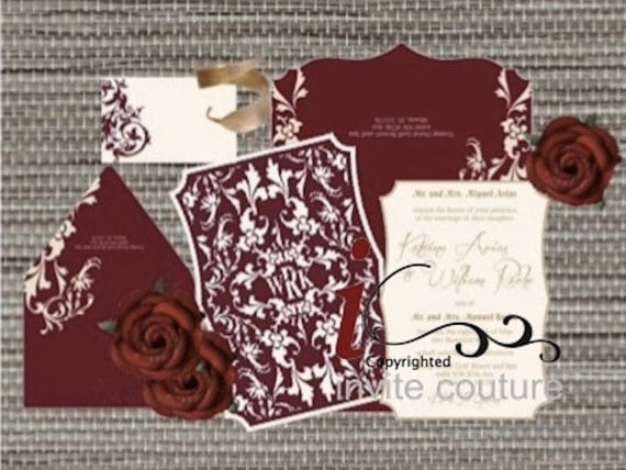 Wedding Invitations Sale Uk: Custom Lasercut Luxury Wedding Invitations Die Cut Wedding