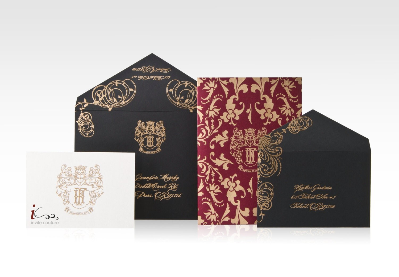 Luxury Wedding Invitations Online: Custom Luxury Wedding Invitations Die Cut Wedding