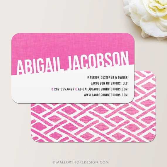 Fabric business card calling card mommy card contact for Mommy business cards