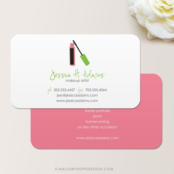 makeup artist business card calling card mommy card