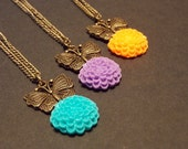Butterfly Bloom Necklace- Choose Your Color