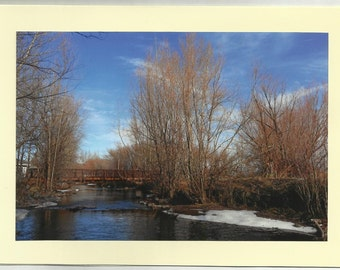 POWDER RIVER - Original Outdoor Scenery / Local Artist Digital Photo - Blank Photo Card Twin Fold Design - In Stock