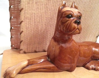SALE! Mid Century Modern Boxer Dog Royal Haeger TV Lamp / Television Light
