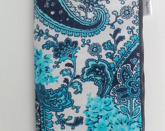 Blue Paisley Seat Belt Cover