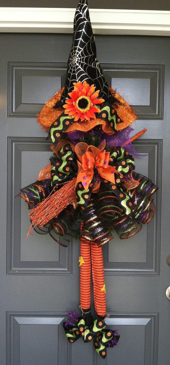 Witch Wreath Front Door Wreath Halloween Witch Wreath
