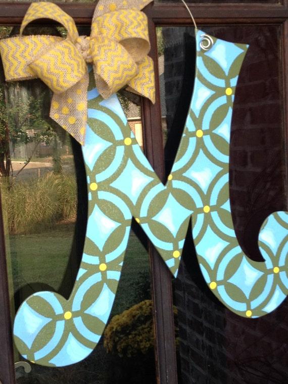 letter m wood door hanger With letter m door hanger