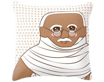 Gandhi 16 x 16 Pillow - LIMITED EDITION