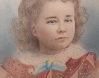 Beautiful large 16 x 20 vintage childs portrait ready to frame, a wonderful portrait for your collection