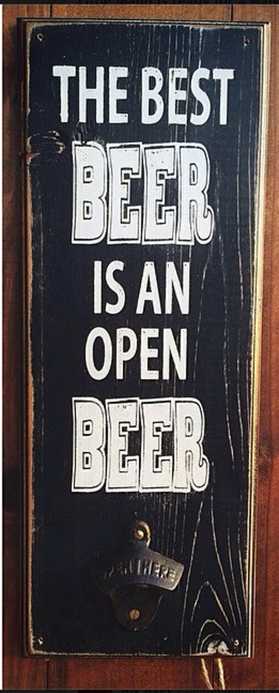 Cool Man Cave Wall Art : Items similar to the best beer is an open