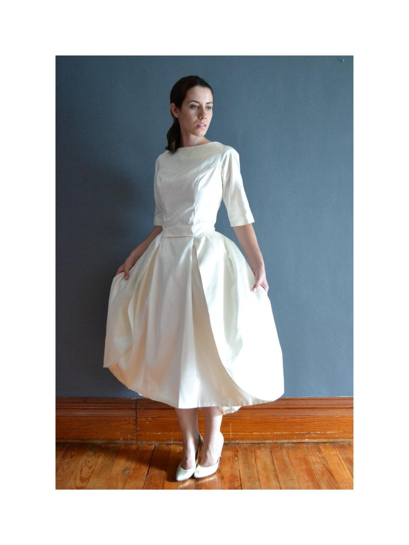Daria 60s short wedding dress 1960s dress for 60s style wedding dresses