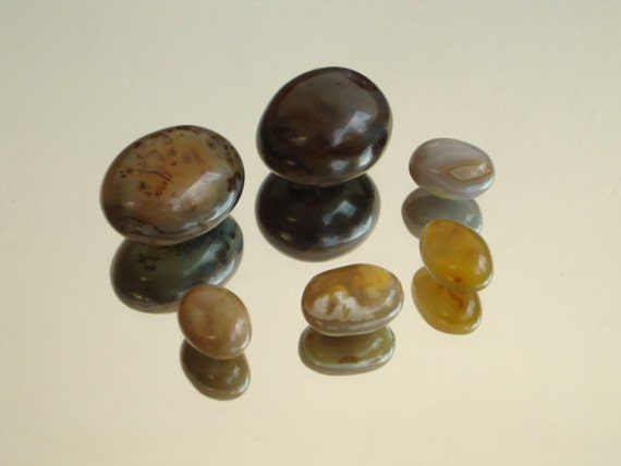 stone eggs 6 egg shaped naturally formed found stone rock agate pebble crystal Easter Eggs set of 6