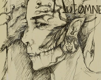 Automne season sketch fine art print
