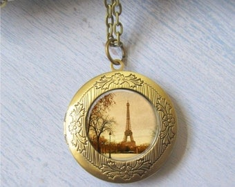 Paris Necklace, Photo Locket, Locket Necklace, Paris Locket