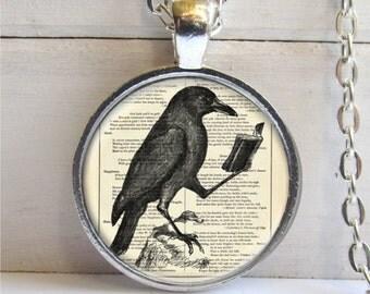 Raven Pendant, Raven Necklace, Crow Necklace, Bird Jewelry