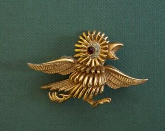 BOUCHER Bird Figural Pin 9088P 1960s Vintage