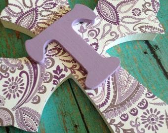 Girls Wall Cross, Girls Baptism Gift, Christening Gift, Personalized Cross,  First Communion Gift, Purple Nursery Art