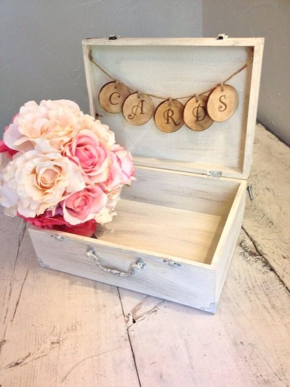 rustic antique white wedding card boxburlap an linen co