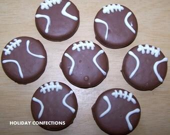 Super Bowl Oreos - Chocolate Covered Oreo Cookies -Super Bowl favors- Oreo Cookies In Chocolate - Chocolate Favors -  football favors