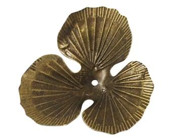 6PCS 40mm antique bronze finish bead caps-9417