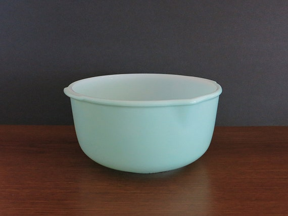 Vintage Large Turquoise Glasbake Mixing Bowl For Sunbeam Stand