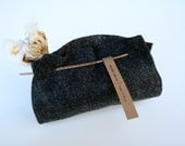 Charcoal Felt Wrapping Kit with Cotton Branch