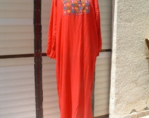 bedouin dress size medium cotton made in Israel circa 1970's