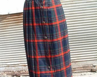 merino wool skirt made in England dead stock  circa 1975'S