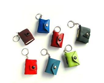 Set of Three Mini Book Keychains