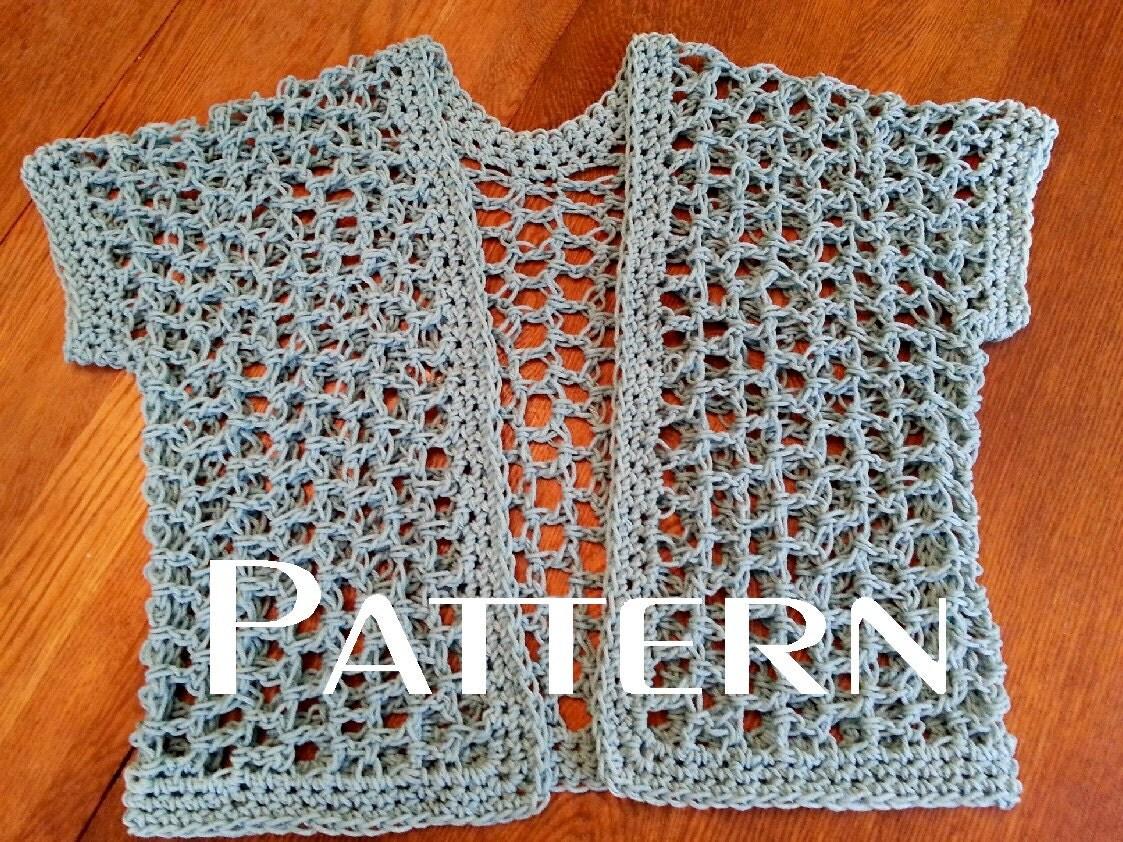 Crochet Pattern Quick Lattice Cardigan By Kathyscrochetcloset