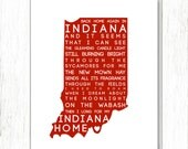 Back Home Again in Indiana - INSTANT DOWNLOAD 8x10 AND 11x14 :)