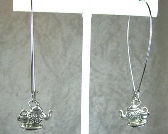 Silver Teapot earrings