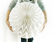 BUBBLE XL: Origami Polypropylene Lamp Shade - WHITE / FiberStore by Fiber Lab