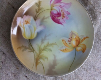 Lovely German Serving Bowl, Master berry Bowl, Hand Painted