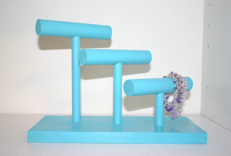 Handmade Bracelet Holder // Jewelry Display by PolkaDotDrawer Unique Bracelet Displays