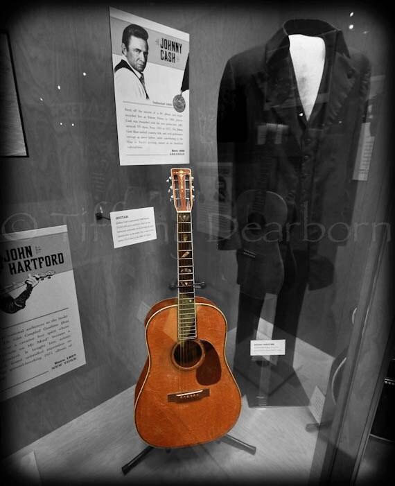 johnny cash 39 s guitar the man in black colorized. Black Bedroom Furniture Sets. Home Design Ideas