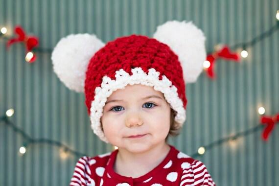 9 Sizes Christmas Hat Santa Hat Baby Hat Baby Girl Hat Baby