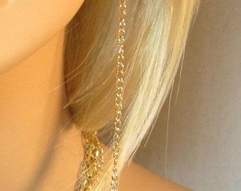 Long Gold Chain Earrings Lightweight Chain