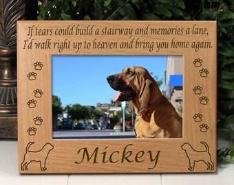 Bloodhound If Tears Poem Dog Memorial Frame